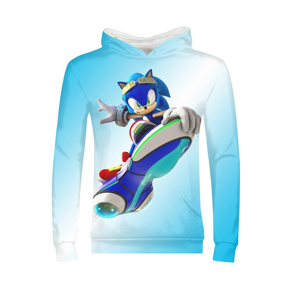 Kids Hoodies Girls Boys Anime Cool Sonic Game Kawaii Hoodies Pullover Hoodies Sweatshirt Street Wear Sudaderas Camisa Camisetas(China)
