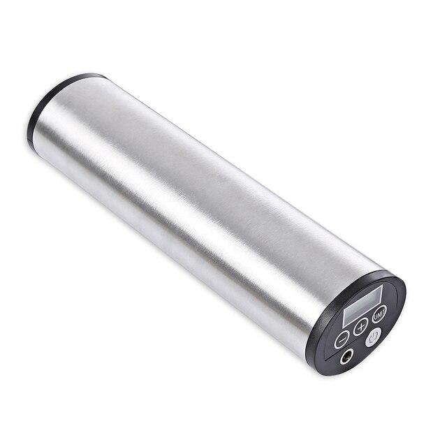 150PSI akumulator Inflator elektryczne przenośne samochód rower pompka do rowera elektryczny samochodowy kompresor powietrza rowerów pompy z wyświetlaczem LCD