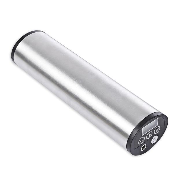 150PSI akumulator pompa Inflator elektryczne przenośne samochód rower pompka do rowera elektryczny samochodowy kompresor powietrza pompy rowerowe z wyświetlaczem LCD