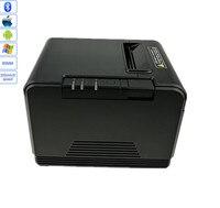 Atacado de alta qualidade 80mm corte automático impressora térmica recibo máquina velocidade impressão usb + interface bluetooth