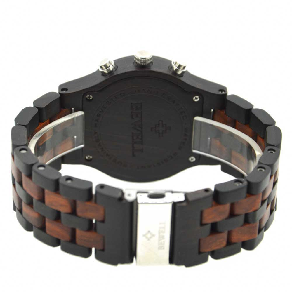 BEWELL Wood Watch Mens Watches Top Brand Luxury Designer Military Watch Quartz Analog Wrist Watch with Chronograph Calendar Date 11