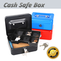 Mini Portátil de Aço Pequeno bloqueio Caixa de Dinheiro Seguro para a escola para casa escritório ou de mercado com 7 Bandeja Compartimento Com Chave Moeda caixa De Segurança