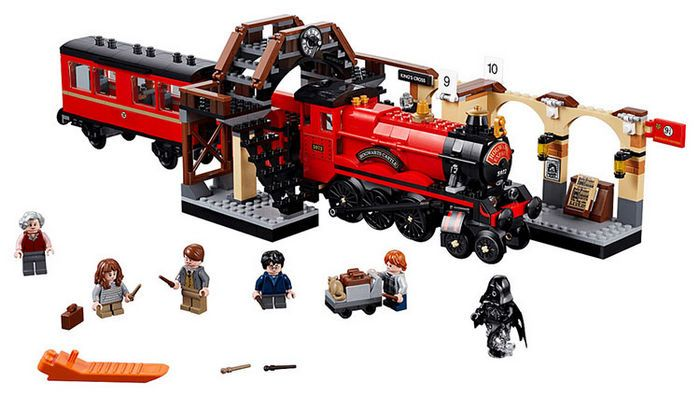Harri Potter Series Hogwarts Express Railway Platform Building Blocks 897pcs Brick Toys Compatible With Legoing Movie 75955