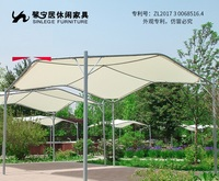 Sunshade Awning Pavilion for Outdoor Garden / Parasols with Steel Post for Alfresco Party