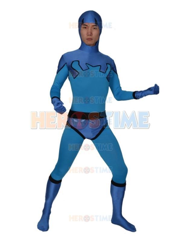 Blaues Käfer Ted Kord Version Spandex Superhero Kostüm Zentai Anzug - Kostüme - Foto 1