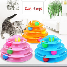 Cat Toys Intelligence Triple Play Disc Cat Toy Balls Cat Crazy Ball Disk Interactive Toy For Training Product Cat Toy Game все цены