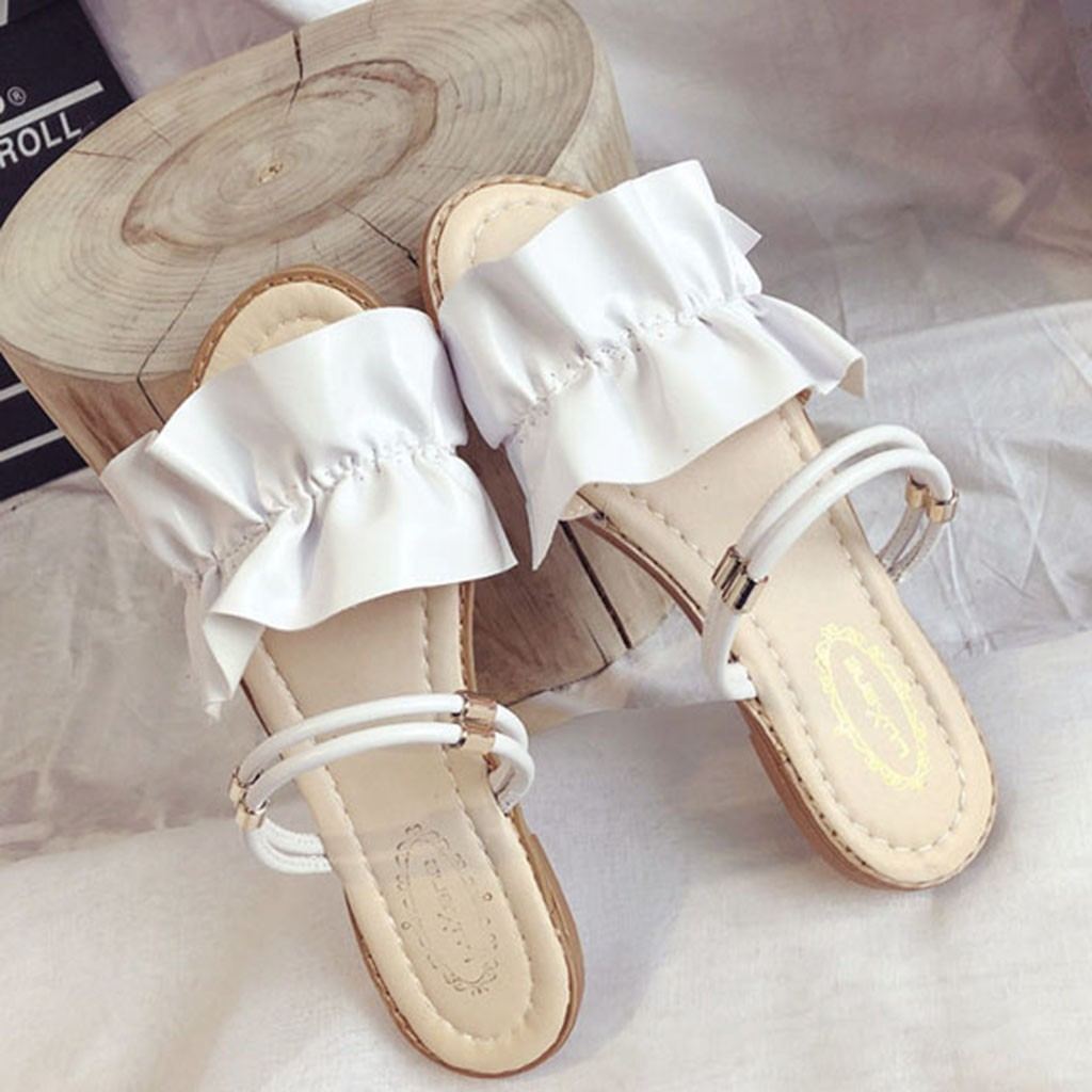 Slipper Sandals Beach-Shoes Open-Toe Summer Women New-Fashion Girl Casual Flat Sweet