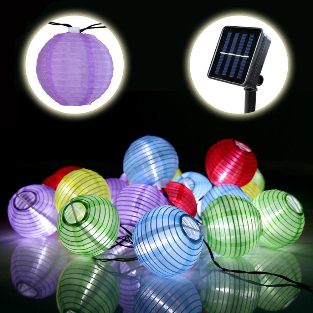 20 LED Bird Cage Outdoor Garden LED Solar Hanging Lantern String Light s