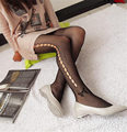 Quality Side hollow good figure enchanting pattern grid driver stockings tights Pregnant women fashionable woman