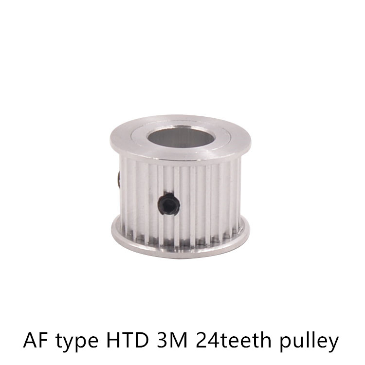 AF type 24 teeth 3M Timing Pulley Bore 8mm 10mm 12mm 14mm for HTD 3M Timing belt used in linear HTD3M pulley 24Teeth 24T powge 1pcs steel 18 teeth htd 3m timing pulley bore 8mm for width12mm 3m timing belt rubber htd3m pulley belt tooth 18t 18teeth
