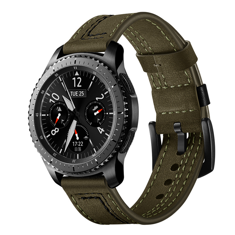 ASHEI 22mm Watchbands For Samsung Galaxy Watch 46mm Band Genuine Leather Watch Strap For Samsung Gear S3 Frontier/Classic Bands 22mm strap watch band for samsung gear s3 frontier classic band replacemet band for samsung galaxy watch 46mm strap for gear s3