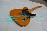 free shipping new electric guitar in yellow with alder body made in China+foam box F-1202