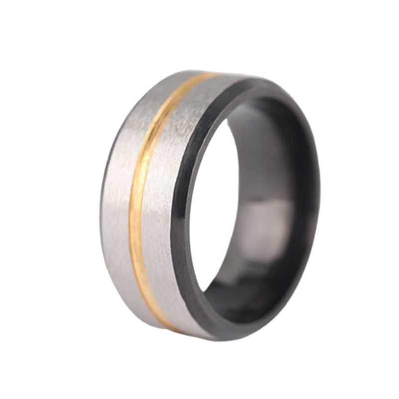 Erkekler Kadınlar Düğün Band Tungsten karbür halkası Yaratıcı Yeni Paslanmaz Çelik Altın Oluk Moda basit yüzük Takı
