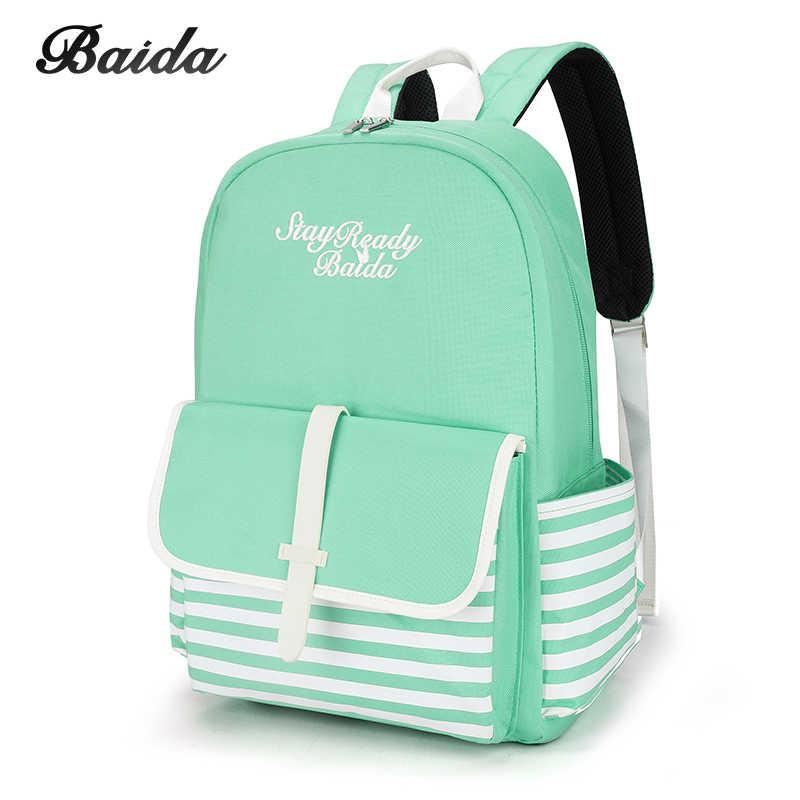 af789652c50a Fashion School Backpacks for Teenage Girls Canvas Women Laptop Back Pack Female  Cute Japan and Korean