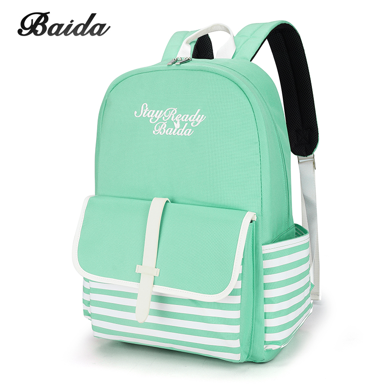 Fashion School Backpacks for Teenage Girls Canvas Women Laptop Back Pack Female Cute Japan and Korean Style Backpack Travel Bags fabra fashion waterproof nylon backpacks women patchwork preppy soft back pack unisex korean japan style school bags wholesale