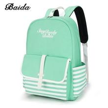 Fashion School Backpacks for Teenage Girls Canvas Women Laptop Back Pack Female