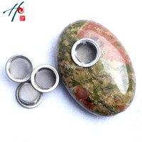 5-6 cm Doğal Şifa Kuvars kristal Taş Oval Taş Sigara Sigara Tütün Boru ile 3 Screeens Dekor Noel hediye