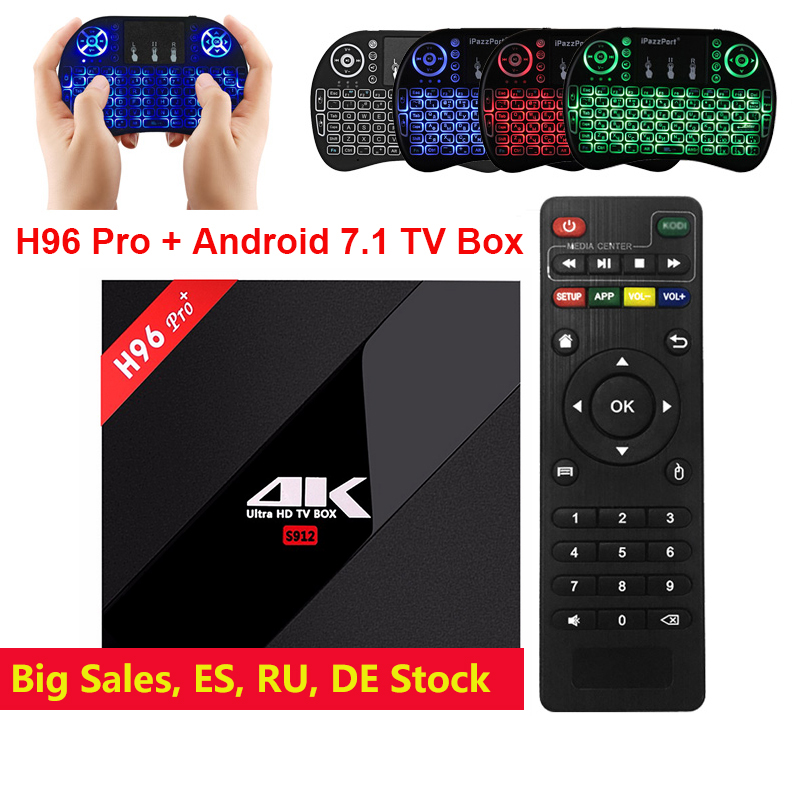 H96 Pro + TV Box Amlogic S912 3GB 32GB Octa Core Android 7.1 OS BT 4.1 2.4GHz+5.0GHz WiFi Mini PC Media Player Smart Set Top Box h96 pro tv box amlogic s912 3gb 32gb octa core android 7 1 os bt 4 1 2 4ghz 5 0ghz wifi mini pc media player smart set top box