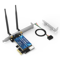 AC1200Mbps Wi Fi With Bluetooths PCI Express adapter With 2*5dBi Antenna wifi laptop card ethernet usb wifi adapter 1200mbps