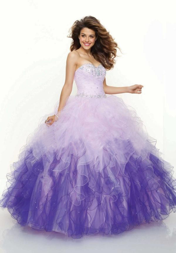 Popular Purple White Quinceanera Dresses-Buy Cheap Purple White ...
