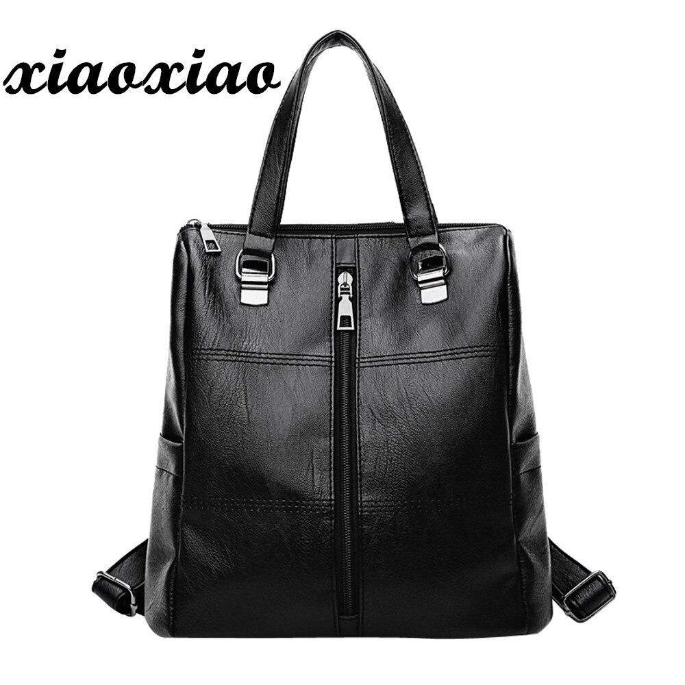 women's backpack 2018 Backpacks female Vintage Girl Leather School Bag Backpack Satchel Women Travel Shoulder Bag O0611#30 недорго, оригинальная цена