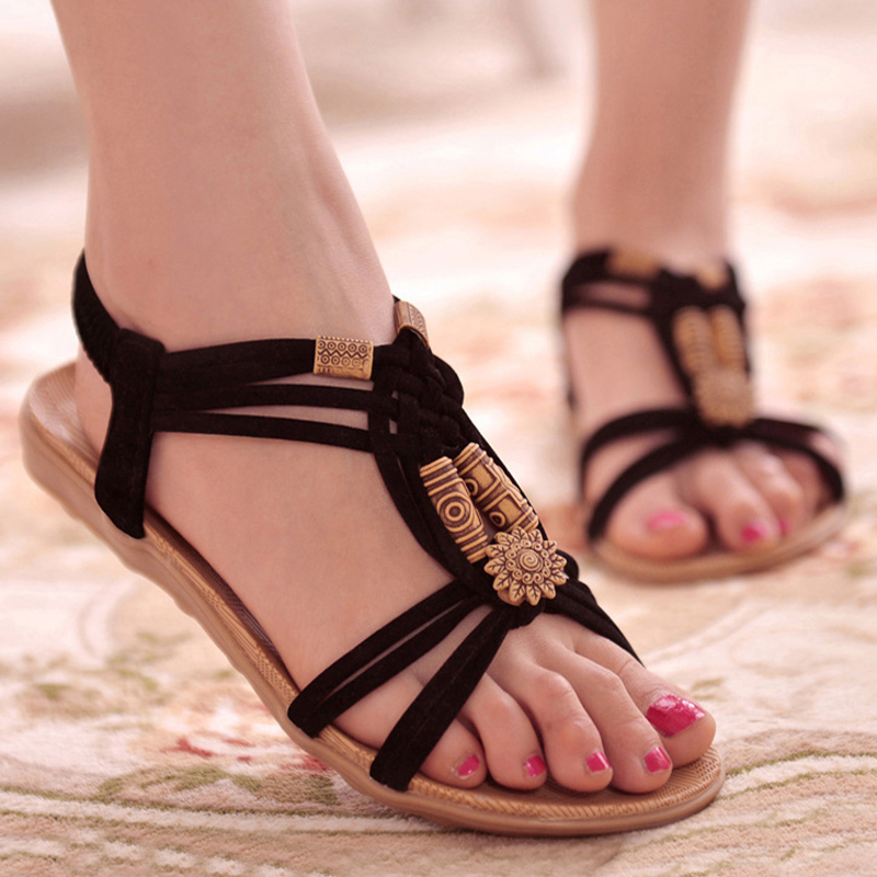 Women Sandals 2018 New Summer Bohemia Women Gladiator Shoes Woman Casual Peep-Toe Flip Flops Sandals Female Flats Beach Sandals hee grand bohemia flip flops summer gladiator sandals beach flat shoes woman comfort casual women shoes size 35 42 xwz4429