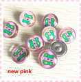 2017 new AKA pink base crest charm snap girl favor sorority jewelry 18mm hand-crafted glass button decoration 20pcs,ONC042-1