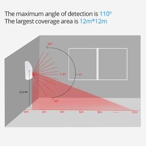 Image 5 - SONOFF 433MHZ RF גשר Wifi דלת חלון חיישן תנועת DW1 אלחוטי גלאי PIR2 433 אזעקה מרחוק חכם אבטחת בית מערכת