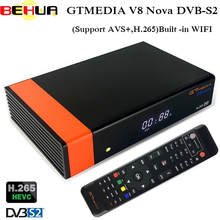 GTMedia V8 Nova DVB S2 Satellite Receiver 1 Year Free Clines for Spain Portugal Germany Europe