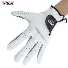Slip-resistant sheepskin left pgm breathable hand genuine gloves soft sports golf