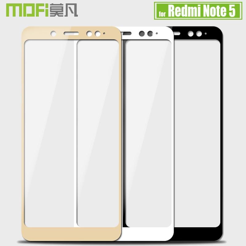 Xiaomi Redmi Note 5 Pro Tempered Glass Screen Protector Mofi 2.5D 9H Hardness Full Cover Clear Glass Flim for Redmi Note 5