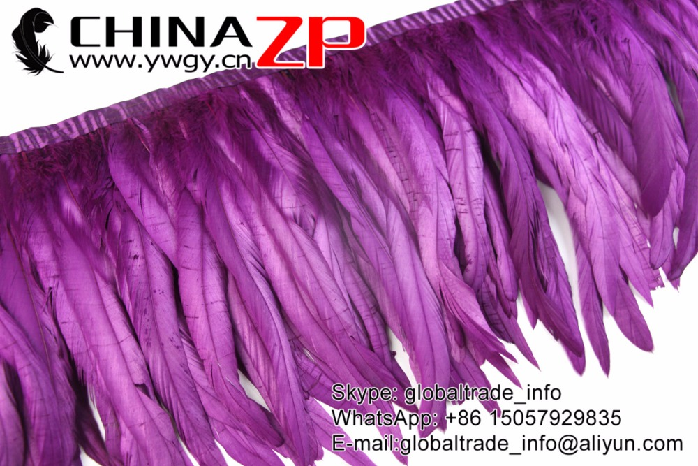 purple Rooster Tail Feather Fringe Trim (9)