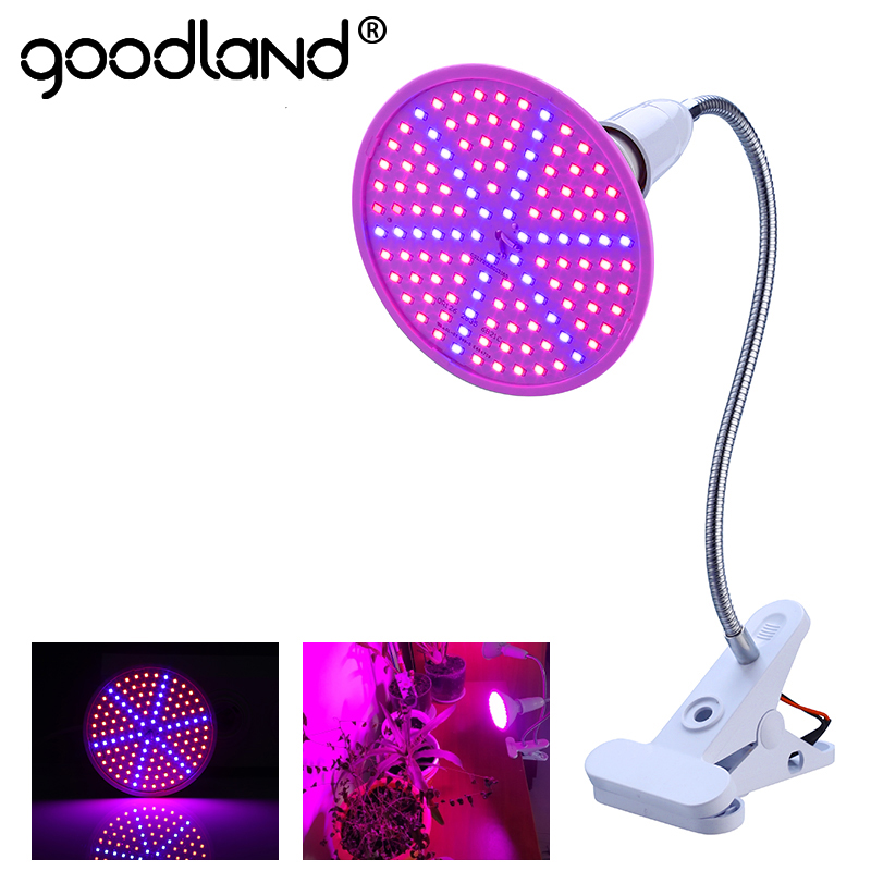 Goodland Phyto Lamp Full Spectrum LED Grow Light E27 Plant Lamp With Clip For Greenhouse Hydroponic Vegetable Flower Fitolampy led grow light full spectrum fitolampy hydroponics phyto lamp sunlight for vegetable flower seedings greenhouse plant lighting