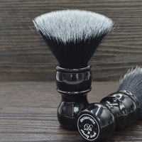 DS soft captain shape black synthetic hair knot black resin handle shaving brush for man wet shaving tool