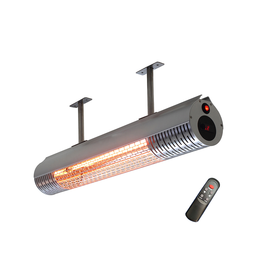 2000W Infrared Patio Heater with Remote Control 2 heating levels Powerful Heating Indoor or Outdoor Heater 1500w 2000w halogen tube heating pipe infrared golden coated for warming patio heater electric heater parts