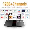 Europa Árabe IPTV Top Box 1300 + Francês de Alta Qualidade Holanda Espanha Assinatura IPTV Livre com Quad-Core Rápido Caixa de TV Android