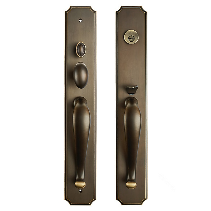 59# BRASS MATERIAL ENTRANCE LOCK ANTIQUE COLOR FOR SINGLE OPENING DOOR EXPORTED QUALITY