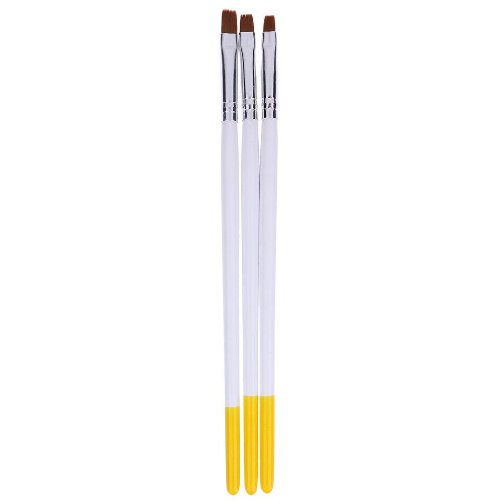 3 stks Nail Art Brush Professionele Nail Schilderij Tekening Borstel - Nagel kunst