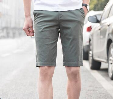 Casual shorts mens five-cent slim fit summer baggy mid-pants mens five-cent summer pants south Korean version of the trend pan