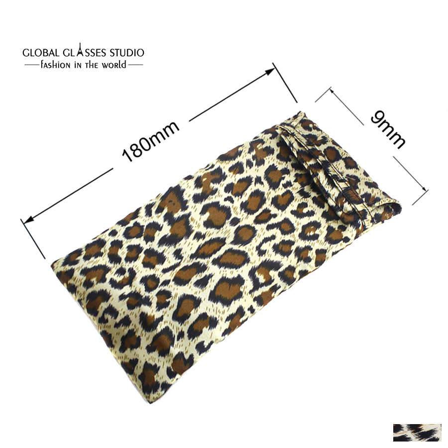 Bolsa de pano macio leopardo para óculos de sol & óculos ópticos malotes de leitura saco de vidro acessórios saco mobil bdb01