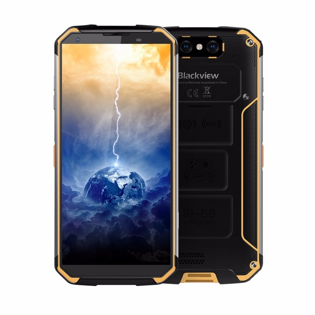 Blackview BV9500 4G Phone Android 8.1 4GB+64GB Octa Core 13MP+16MP Camera Dual Back Cameras 5.7 inch FHD Mobile Phone