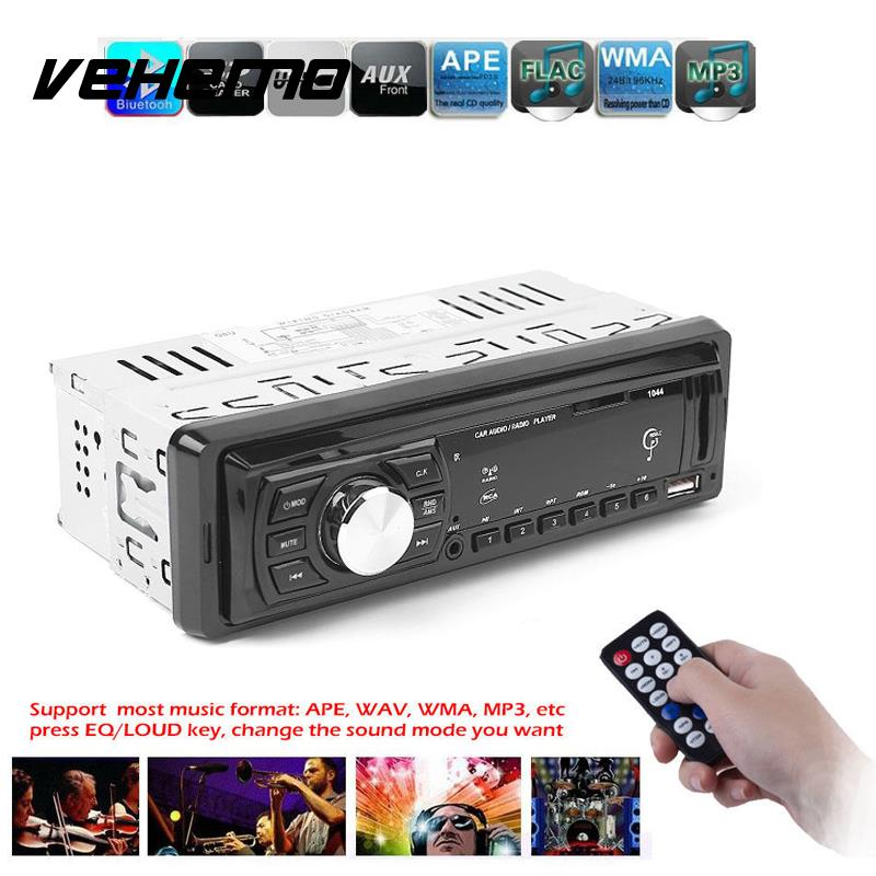 Vehemo Car USB Input Radio MP3 WMA Music Player Receiver Stereo Audio Parts DC 12V