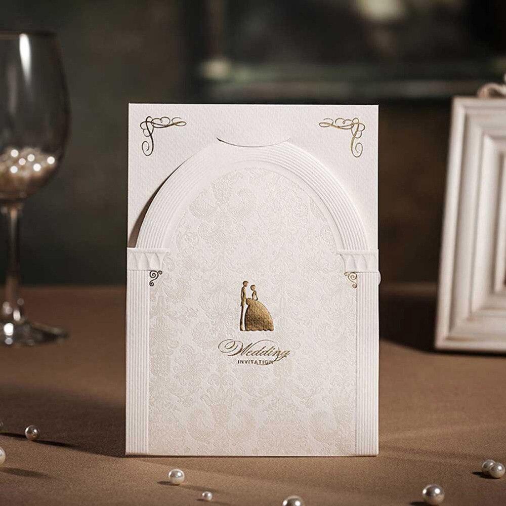 3D Wedding Invitation Cards Red and White Church Design Invitation ...