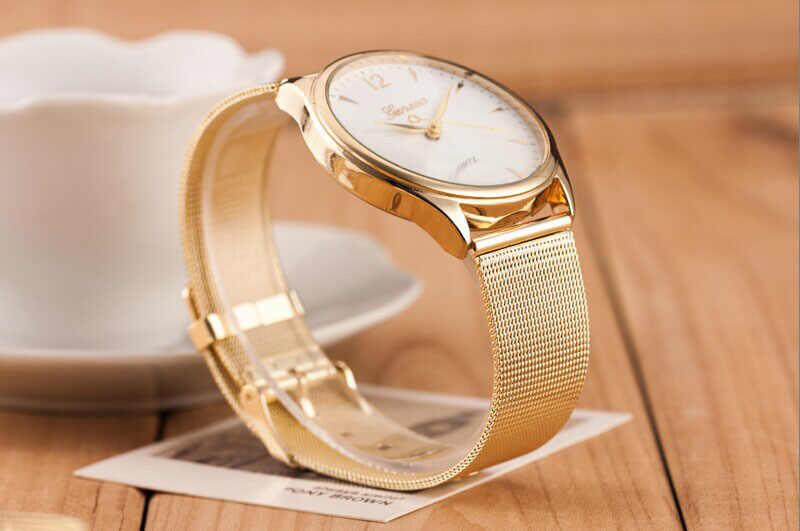 Reloj de pulsera de cuarzo para Mujer, Reloj de pulsera de cuero inoxidable para hombre, venta al por mayor, envío rápido