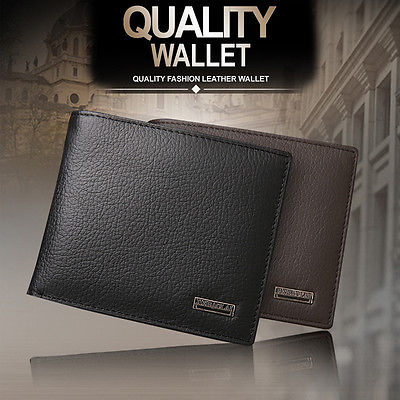 Hot Men's Leather Purse Trifold Quality Wallet Pocket Card Clutch ID Credit Holder Gift