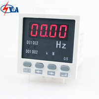 F81 white and black Hot sell LED display digital panel frequency meter 48*48mm