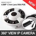 XMEYE Dome IP POE Câmera 4MP/3MP Indoor 2592*1520/2048*1536 de visão Noturna Lente Olho de peixe segurança 180/360 Graus Vista Panorâmica