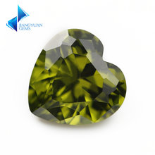 3x3 ~ 12x12 мм в форме сердца 5a черный оливковый цвет кубический