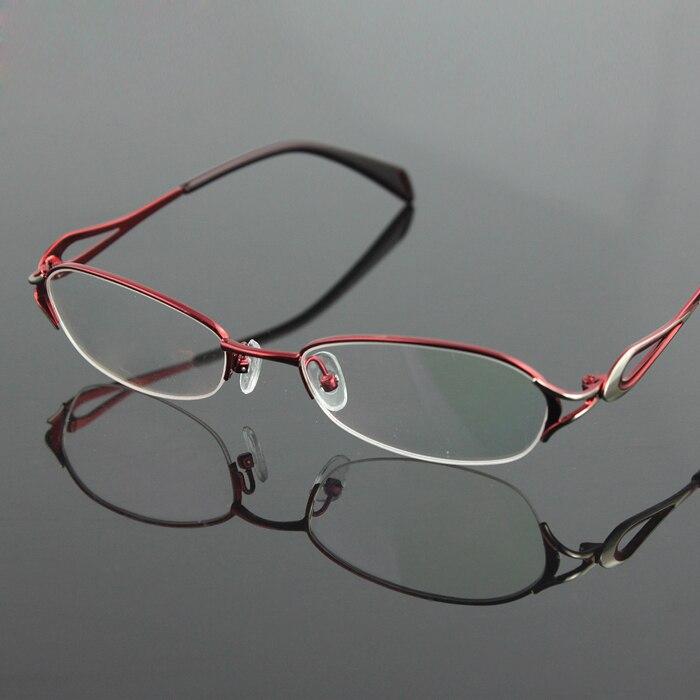 Nuevas mujeres de la mitad sin rebordes marco de las lentes de moda ...