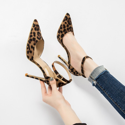 Autumn Sexy Leopard Women Shoes High Heels 6-10CM Elegant Office Pumps Shoes Women Animal Print Pointed Toe Luxury Singles Shoes